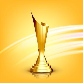 Golden award cup