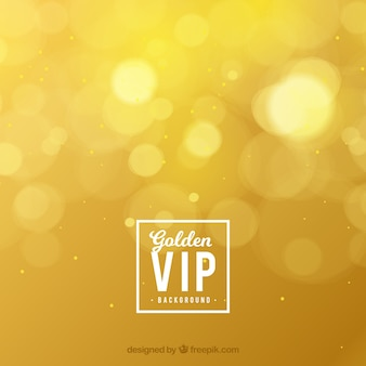 Golden bokeh vip background