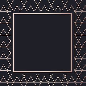 Golden frame pattern art vector carte de couverture de fond élégant géométrique