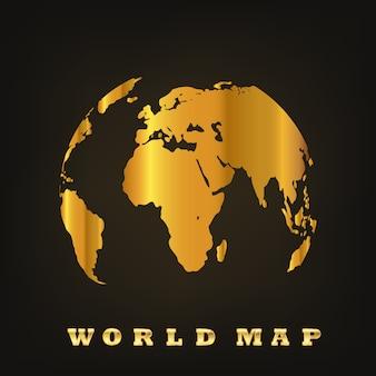 Golden globe earth. illustration vectorielle