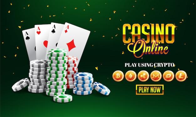Golden texte casino en ligne avec puce 3d