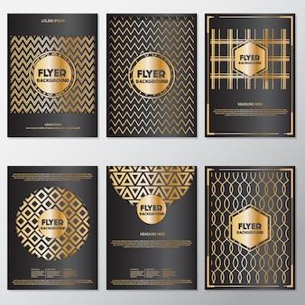 Golden triangle flyers design