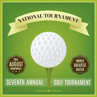 Golf affiche du tournoi national