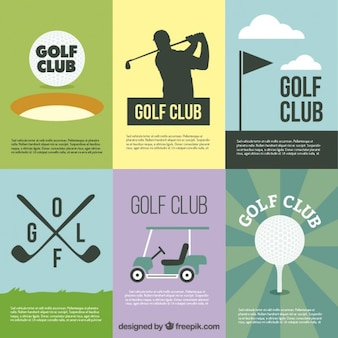Golf club affiches
