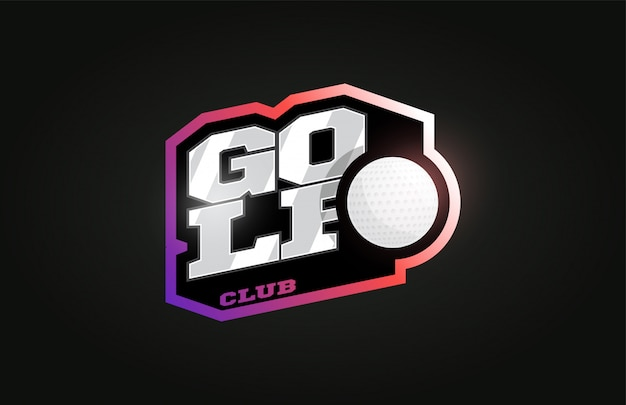 Golf logo de sport professionnel moderne dans un style rétro