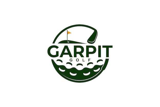 Golf logo template vector illustration icône design