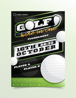 Golf sport flyer
