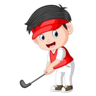 Golfeur professionnel enfants