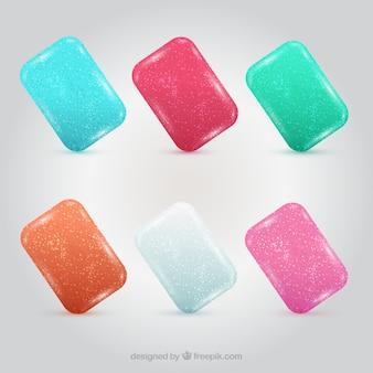 Gommes à mâcher colorées