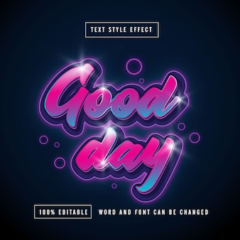 Good day full color text effect modifiable