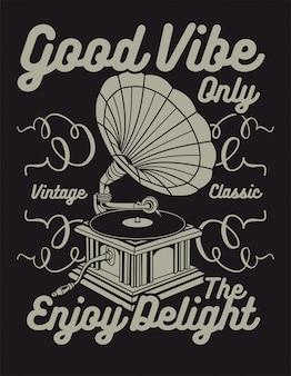 Good vibe seulement dans le style vintage