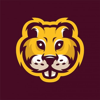 Gopher mascot head sport logo