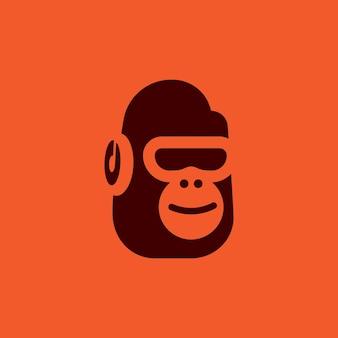 Gorilla music logo vecteur