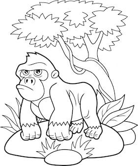 Gorille de dessin animé