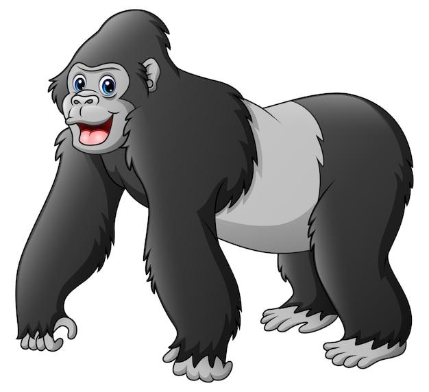 Gorille drôle de dessin animé