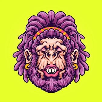 Gorille femelle trippy