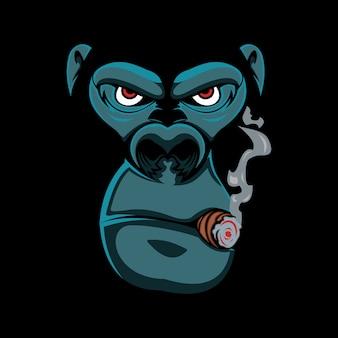 Gorille fumé