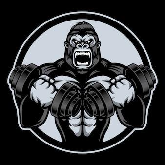Gorille de storng avec barble