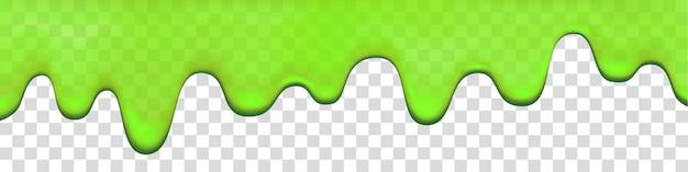 Goutte de boue verte isolée sur fond transparent. peinture qui coule. halloween mucus réaliste illustration vectorielle 3d.