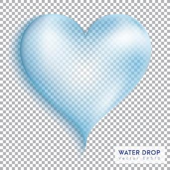 Goutte de coeur d'eau.