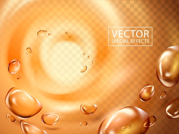 La goutte d'eau est aspirée dans un léger tourbillon, peut être utilisée comme effets spéciaux
