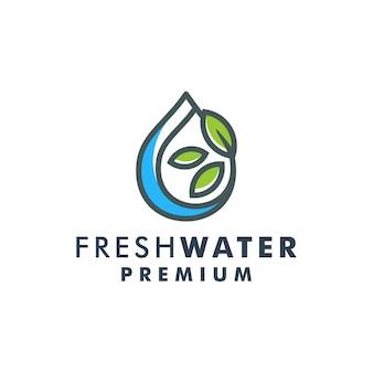 Goutte d'eau feuille logo template design nature icône logotype vecteur