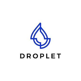 Goutte d'eau gouttelette logo vector icon illustration