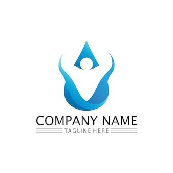 Goutte d'eau logo template vector illustration design