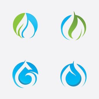 Goutte d'eau nature logo template vector illustration design