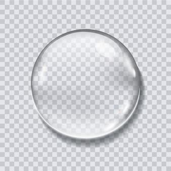 Goutte d'eau réaliste sur fond transparent