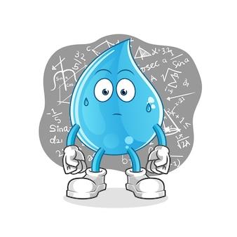 Goutte d'eau réfléchissant
