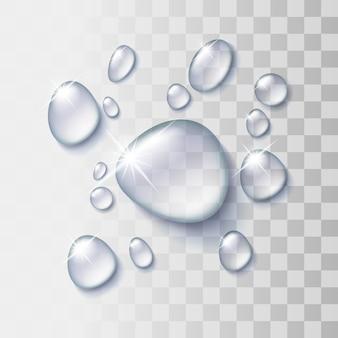Goutte d'eau transparente