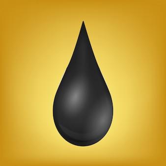 Goutte de pétrole, gouttelettes, essence brute, pompe à huile.