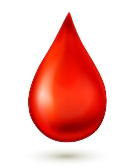 Goutte de sang.