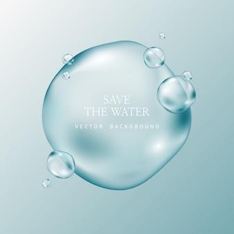 Gouttelettes d'eau transparentes, water drop