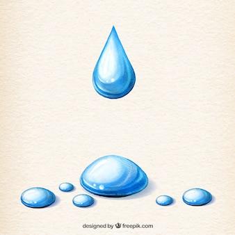 Les gouttelettes d'eau