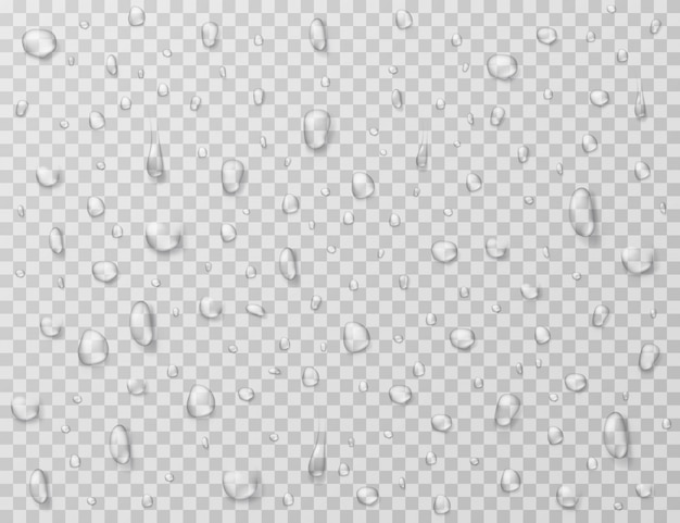 Gouttes d'eau . des gouttes de pluie éclaboussent, des gouttelettes sur une fenêtre en verre transparent. texture goutte de pluie