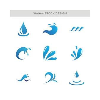 Gouttes d'eau et logo wave