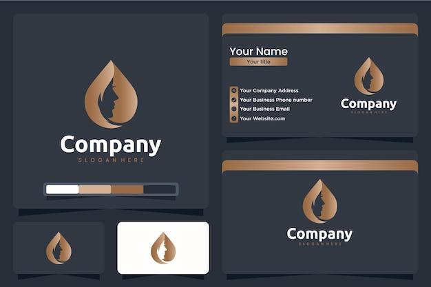 Gouttes de femme, inspiration de conception de logo