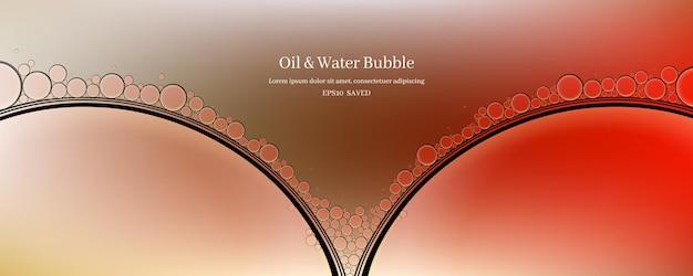 Gouttes d'huile sur un fond abstrait de surface de l'eau.