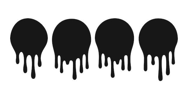 Gouttes d'huile goutte. taches de peinture ou de sauce gouttes.