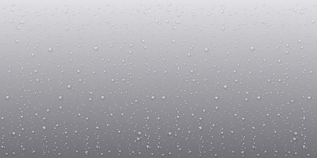 Gouttes de pluie d'eau, style réaliste, éléments vectoriels, fond de gouttelettes d'eau