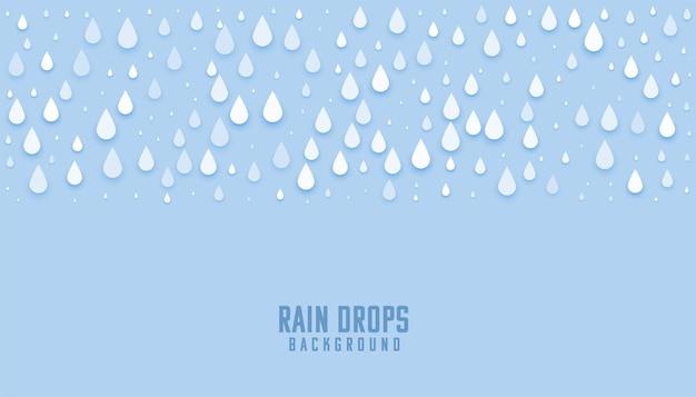 Gouttes de pluie fond bleu humide