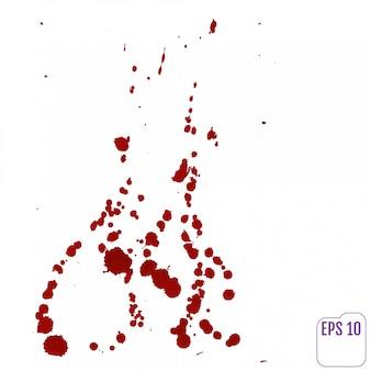 Gouttes de sang isolé sur blanc.