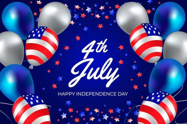 Gradient 4 juillet - illustration de la fête de l'indépendance