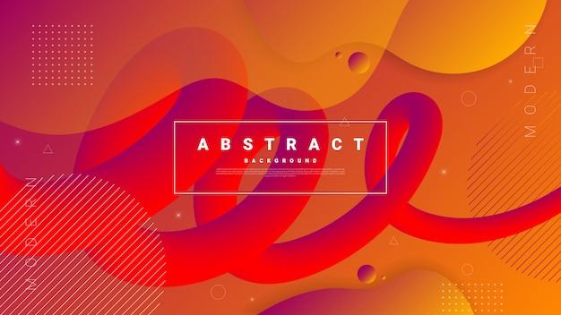 Gradient abstrait avec des formes liquides qui coule.