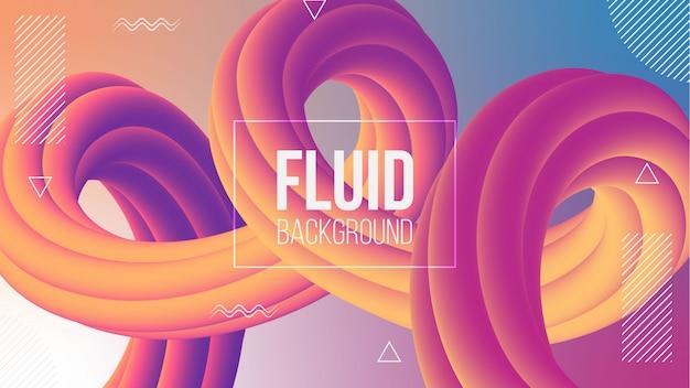 Gradient abstrait moderne avec des formes fluides 3d