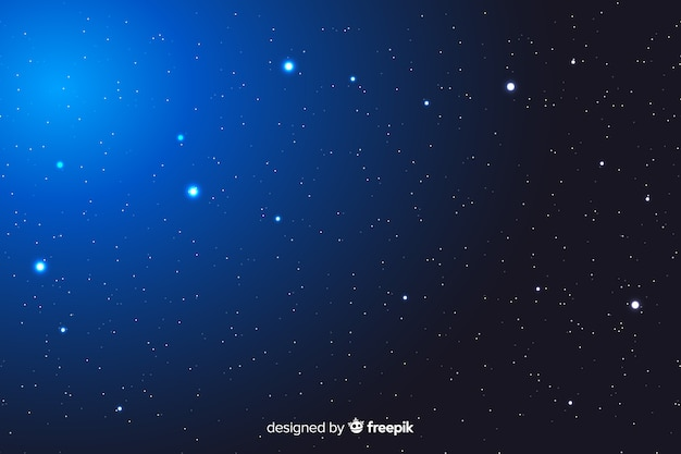 Gradient abstrait nuit étoilée