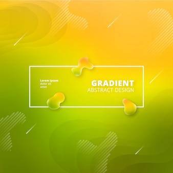 Gradient abstrait vert et jaune