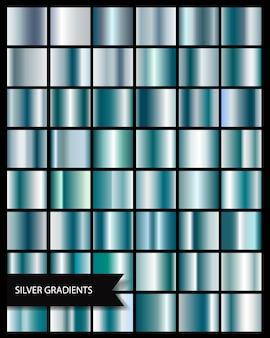 Gradient d'argent élégant gris brillant métallique, dégradés de médailles